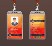 Фирменный стиль удостоверения личности Шаблон дизайна значка доступа работника, план личного знака офиса Пропуск компании вектора иллюстрация вектора