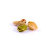 фисташка предпосылки близкая nuts вверх по белизне Стоковая Фотография RF