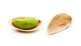 фисташка предпосылки близкая nuts вверх по белизне Стоковые Фото
