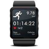 Фитнес бега Smartwatch Стоковые Фото