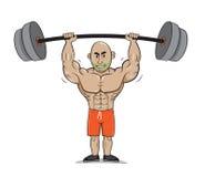 Фитнес веса человека сильный Стоковые Изображения