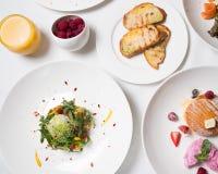 Фитнес еды органического завтрака здоровый Стоковые Изображения RF