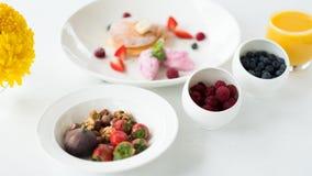 Фитнес еды органического завтрака здоровый Стоковые Фотографии RF