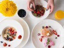 Фитнес еды органического завтрака здоровый Стоковая Фотография