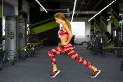 Фитнес Женщина гимнастика Стоковые Фото