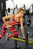 Фитнес Женщина гимнастика Стоковое Изображение