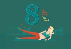 Фитнес 8-ое марта иллюстрации вектора Стоковая Фотография RF