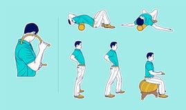 Фитнес: Протягивать пока работающ канцелярская работа бесплатная иллюстрация