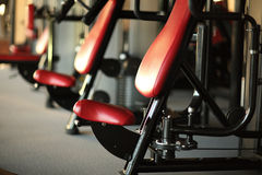 Фитнес, спорт, powerlifting женщина концепции людей sporty работая штангу Стоковые Фото