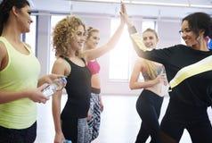 Фитнес с командой Стоковые Фото