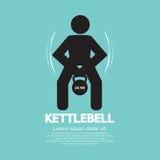 Фитнес Kettlebell работая знак Стоковые Фото