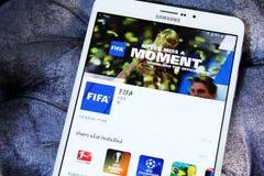 ФИФА app Стоковая Фотография
