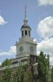 Филадельфия, 4-ое августа: Башня Hall независимости от Филадельфии в Пенсильвании Стоковая Фотография
