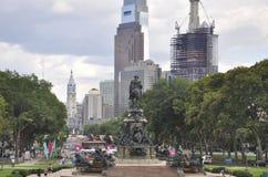 Филадельфия, 4-ое августа: Бульвар Бенджамина Франклина от Филадельфии в Пенсильвании стоковая фотография rf