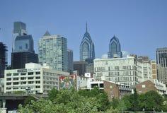Филадельфия, 4-ое августа: Небоскребы от Филадельфии в Пенсильвании Стоковая Фотография