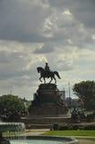 Филадельфия, 4-ое августа: Памятник Вашингтона от Филадельфии в Пенсильвании Стоковая Фотография
