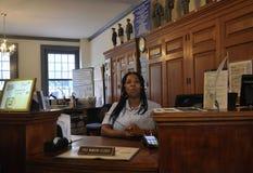 Филадельфия, 4-ое августа: Первое почтовое отделение от интерьера Соединенных Штатов в Филадельфии от Пенсильвании Стоковое Изображение RF