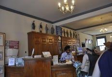 Филадельфия, 4-ое августа: Первое почтовое отделение от интерьера Соединенных Штатов в Филадельфии от Пенсильвании Стоковые Фото
