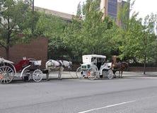 Филадельфия, 4-ое августа: Путешествие экипажа в старом городе Филадельфии в Пенсильвании Стоковое Изображение