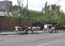Филадельфия, 4-ое августа: Путешествие экипажа в старом городе Филадельфии в Пенсильвании Стоковое фото RF