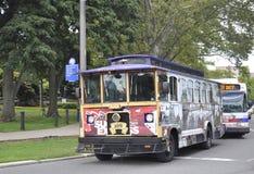Филадельфия, 4-ое августа: Старое путешествие вагонетки городка от Филадельфии в Пенсильвании Стоковые Фотографии RF