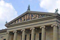 Филадельфия, 4-ое августа: Статуи верхней части музея изобразительных искусств от Филадельфии в Пенсильвании иллюстрация вектора