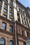 Филадельфия, 4-ое августа: Фасад мола фондовой биржи исторического здания от Филадельфии в Пенсильвании Стоковые Изображения RF