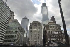 Филадельфия, 4-ое августа: Финансовый район от Филадельфии в Пенсильвании Стоковая Фотография RF