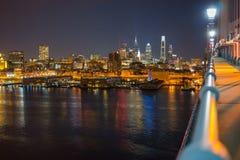 Филадельфия от моста Бен Франклина Стоковые Изображения
