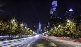 Филадельфия Nightscape Стоковая Фотография RF