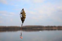 Фидер рыбной ловли Стоковое Фото