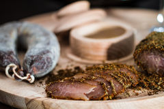 Филе и сосиска мяса Стоковая Фотография