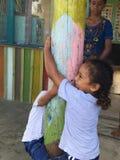 Фиджийские дети Стоковые Изображения