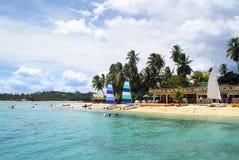 Фиджи, остров Malolo Lailai стоковая фотография rf