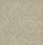 Филигранная флористическая восточная картина Стоковая Фотография RF