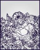 Филигранные листья для бумажного вырезывания иллюстрация штока