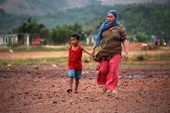 Филиппинская мать и ребенок Стоковые Изображения RF