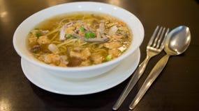 Филиппинский суп лапши Стоковые Фото