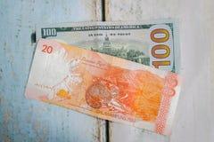 Филиппинское песо и американский доллар usd Стоковая Фотография RF