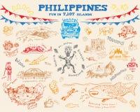 Филиппинское собрание 2 концепции эскиза doodle Editable вектор eps10 искусства зажима Стоковые Фотографии RF