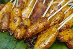 Филиппинское turon десерта - зажаренный банан Стоковое Изображение