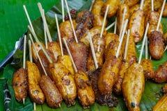 Филиппинское turon десерта - зажаренный банан Стоковые Фото