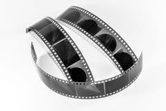 Фильм принятый на белую предпосылку Стоковое фото RF