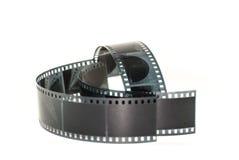 Фильм принятый на белую предпосылку Стоковая Фотография RF