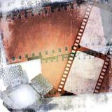 Фильм Grunge обнажает предпосылку с рефлектором приведенным Стоковые Изображения RF