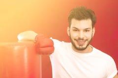 Фильтр боксера и груши теплый прикладной Стоковые Изображения
