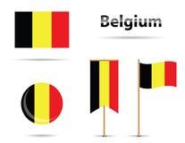 флаги Бельгии иллюстрация вектора