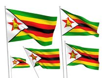 Флаги вектора Зимбабве иллюстрация вектора