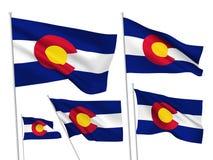 Флаги вектора положения Колорадо иллюстрация вектора