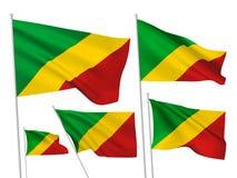 Флаги вектора Республики Конго иллюстрация вектора